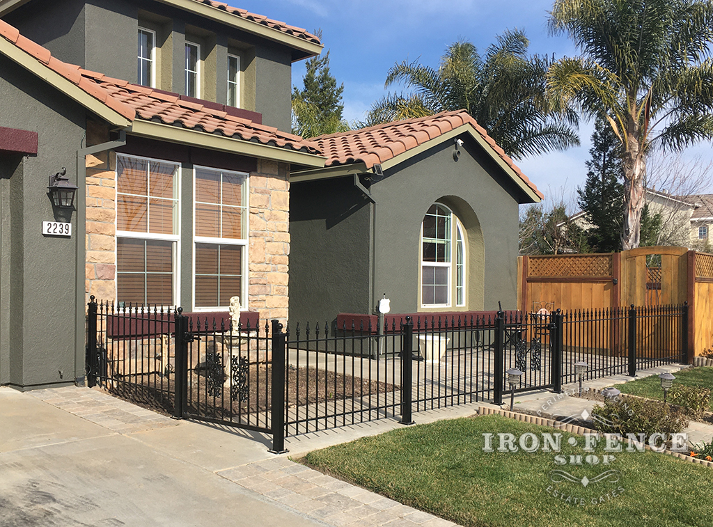 Our 3ft Signature Grade Iron Fence and Gates Used for a Front Patio Enclosure