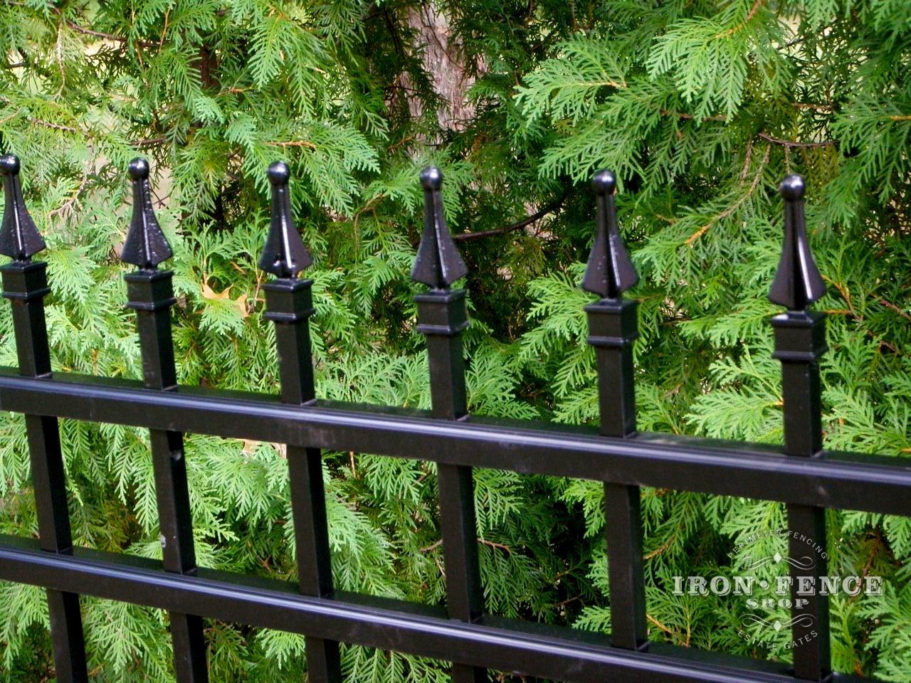 Can You Powder Coat Aluminum >> Aluminum Fence | Posts, Panels, Finials, Parts | Iron ...