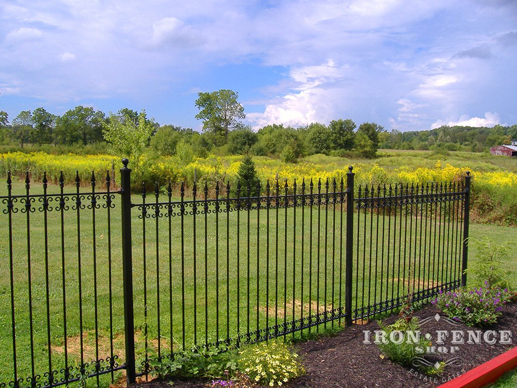 Iron aluminum fence photo gallery shop