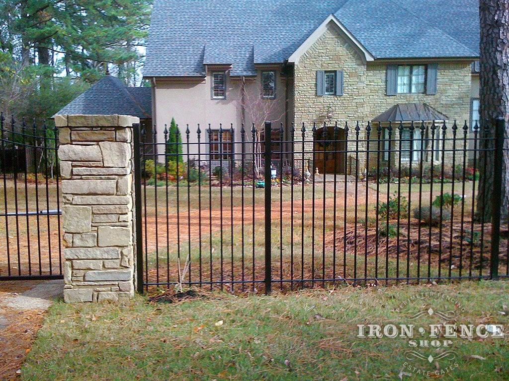 Iron aluminum fence photo gallery shop