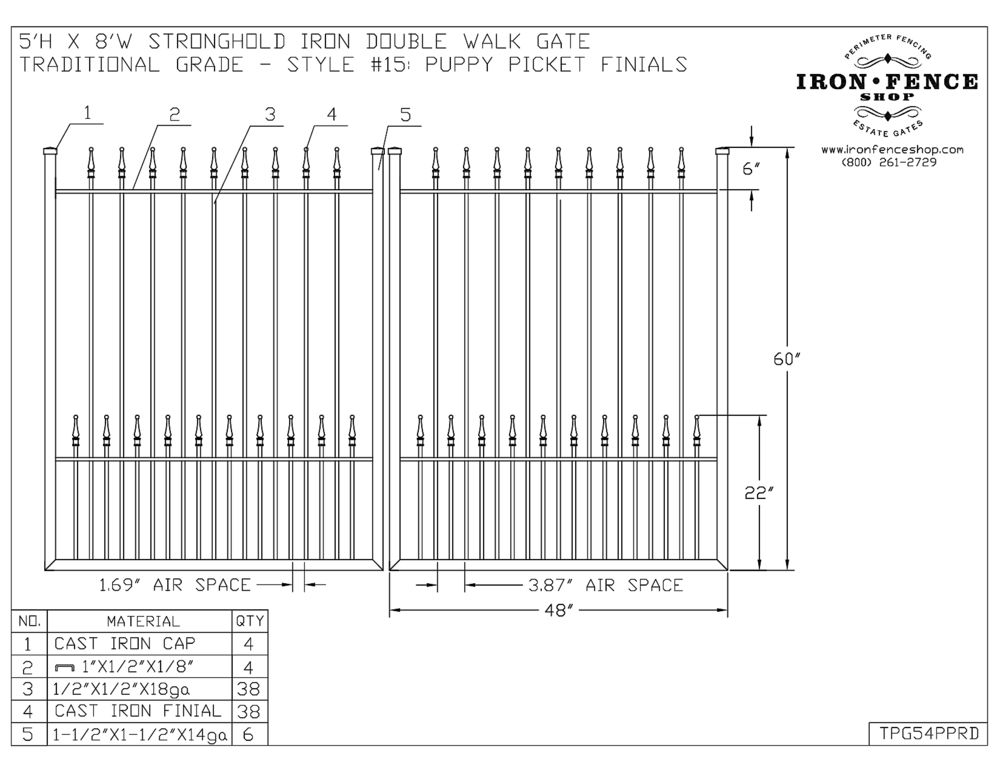 CAD Drawings and Schematics of Fence Panels and Gates