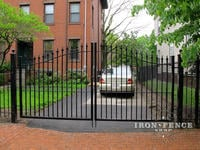 12ft Wide Signature Grade Iron Driveway Gate with 5ft to 6ft Arch (Style #1: Classic)