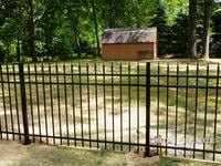 4ft Tall Traditional Grade Aluminum Fence Set in Post Holes (Style #1: Classic)