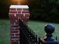 4ft Tall Traditional Grade Iron Fence Installed Directly to a Brick Column (Style #1: Classic)