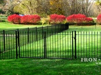 4ft x 8ft Traditional Grade Double Walk Gate in Side Yard (Style #1: Classic)