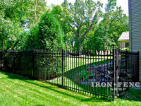 6ft Tall Signature Grade Aluminum Fence and 6x4 Gate (Style #1 Classic) Corner Section