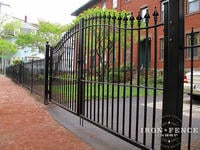 12ft Wide Classic Style Wrought Iron Driveway Gate in 5ft Arching to 6ft Height