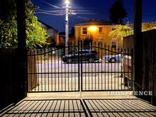 A 12ft Infinity Aluminum Driveway Gate in Classic Style and a 5ft to 6ft Arch