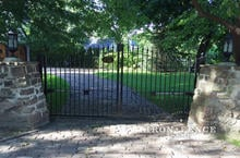 Our Classic Style Iron Driveway Gate in a 5ft Arching to 6ft Height and 12ft Width