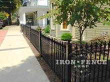 3ft Tall Wrought Iron Fence in Classic Style and Signature Grade used in a Historic District