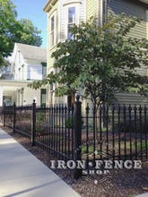 3ft Tall Wrought Iron Fence in Classic Style and Signature Grade Installed in a Historic District