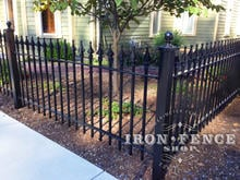 3ft Tall Wrought Iron Fence in Classic Style and Signature Grade with Solid Iron Finials