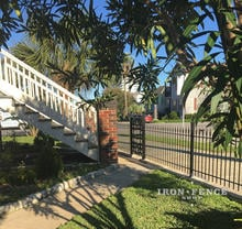 Our 3ft Tall Classic Iron Fence Used in a Front Yard Entryway