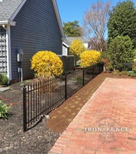 3ft Tall Wrought Iron Fence used as a Driveway Barrier (Classic style, Traditional Grade)