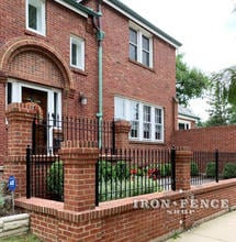 3ft Tall Traditional Grade Custom Iron Fence with 3 Rails
