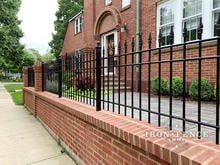 Custom Built 3ft Iron Fence with 3 Rails to Fit Customer's Column Spacing