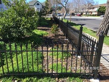 3ft Tall Wrought Iron Fence in Classic Style Signature Grade