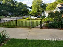 3ft Tall Iron Fence with 3x5 Gate in a Front Yard Setting - Classic Style Iron
