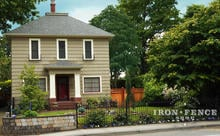 3ft Tall Iron Fence Used to Accent a Corner Wall (Classic Style Traditional Grade Fence Panel)