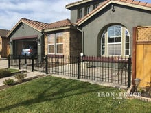 Our 3ft Tall Classic Style Iron Fence Used to Enclose a Front Patio Area