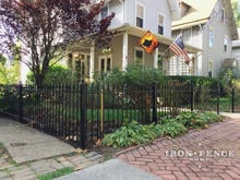 3ft Tall Wrought Iron Fence in Classic Style and Traditional Grade