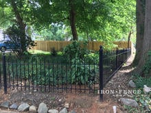 A 3ft Tall Wrought Iron Fence in Hoop and Picket Style