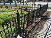 3ft Tall Signature Grade Iron Fence in Classic Style Surrounding a Front Yard