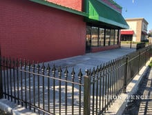 3ft Tall Classic Style Iron Fence in Signature Grade Enclosing a Patio Area