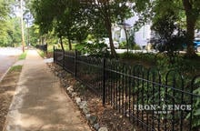 A Custom 3ft Tall Wrought Iron Fence in Victorian Hoop and Picket Style