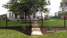 4ft Tall Classic Style Aluminum Fence and Arched Gate in Signature Grade (optional Cape Cod decorations on gate)