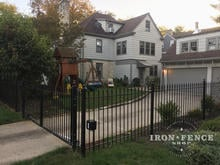 Our 4ft Tall Classic Iron Fence and 12ft Gate in Traditional Grade