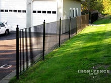 4ft (50in) Tall Wrought Iron Fence in Flat Top Pool Style