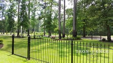 4ft Iron Fence Panels with a 4x4 Walk Gate in Classic Style