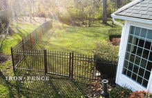4ft Tall Infinity Aluminum Fence in Classic Style with 4ft Wide Walk Gate