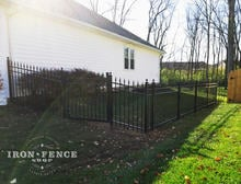 4ft Aluminum Walk Gate Between Racked Aluminum Fence Panels
