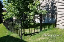 Aluminum Fence and Gate Racked and Stepped for Grade (Infinity Aluminum Classic Style)