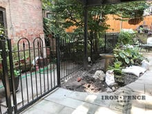 A 4ft tall x 4ft Wide Iron Gate and Fence in Hoop and Picket Style