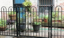 An Iron Gate in our Hoop and Picket Style - 4ft tall x 4ft wide