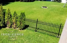 Overhead shot of our Infinity Aluminum Fence in Classic Style and Traditional Grade