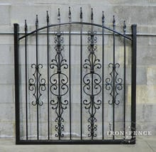 Our Classic Style 4ft Arched Gate in Stronghold Iron with a Mixture of Add-on Decorations