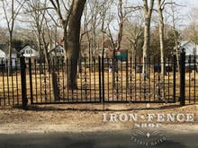 12ft Wide x 4ft Tall Iron Gate with our Cape Cod Add-on Decorations