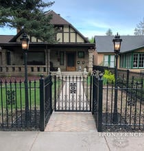 Our 4ft Tall Signature Grade Iron Fence and Gate with Add-on Decorations