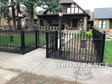 Our 4ft Classic Style Iron Fence with Add-on Decorations for a Custom Look