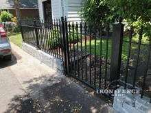 Signature Grade 3ft Iron Fence with a 4ft Tall Iron Gate in Classic Style
