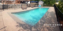 4ft (50in) Tall Wrought Iron Pool Style Fence in Traditional Grade Installed with Flange Posts