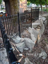 Our 4ft Classic Iron Fence Creating a Drop-off Barrier Along a Ledge