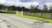 Our 4ft Tall Classic Style Iron Fence at a Historic Cemetery