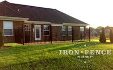 4ft (50in) Wrought Iron Pool Style Fence Used Around a Patio