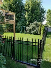 4x4 Infinity Aluminum Walk Gate in Classic Style and Traditional Grade