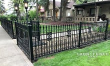 4ft Wrought Iron Fence in Classic Style with Add-on Decoration Scrollwork